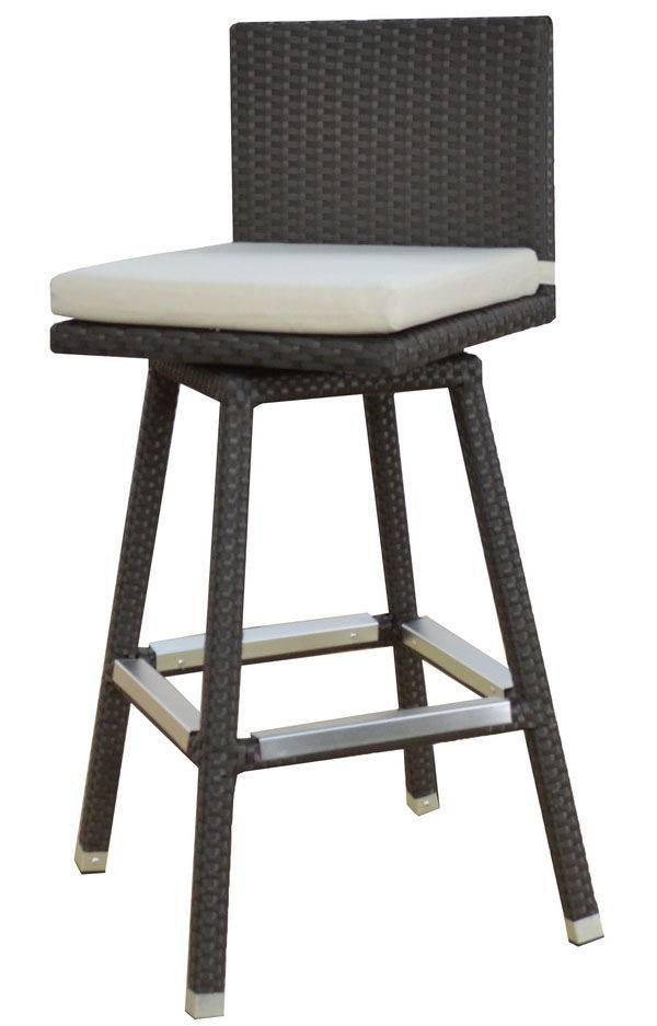 Vertigo Modern Outdoor Swivel Barstool Armless