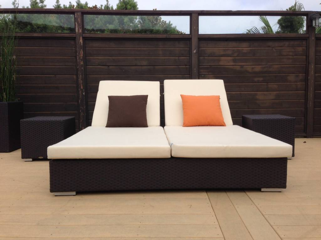 Mandarin Double Chaise Lounge Commercial Outdoor Chaise