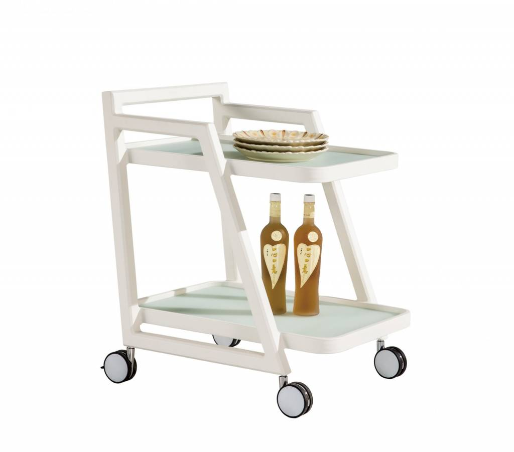 Amber Modern Outdoor Food And Drink Trolley