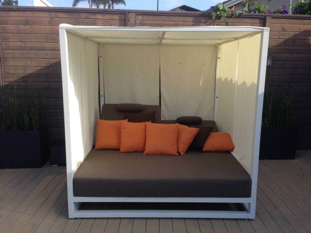 outdoor daybed with canopy riviera modern outdoor leisure daybed with canopy 31333