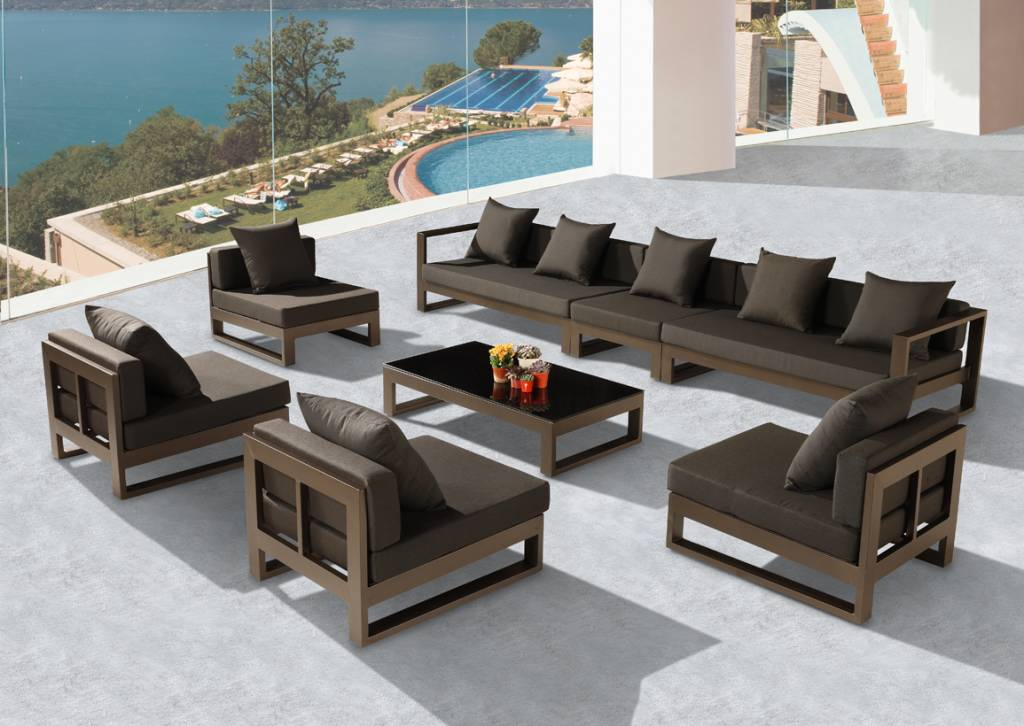 Amber xl sectional set new collection outdoor sofa seating sets hospitality - Outdoor sectionals for small spaces collection ...