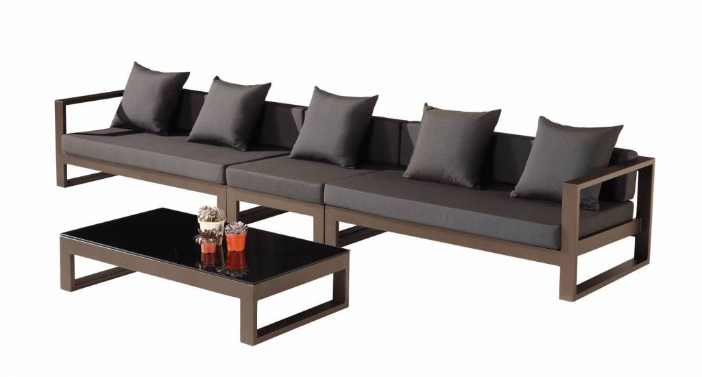 Amber Modern Outdoor 5 Seater Sectional Sofa Set