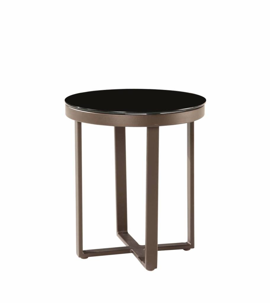 amber tall outdoor modern side table. Black Bedroom Furniture Sets. Home Design Ideas
