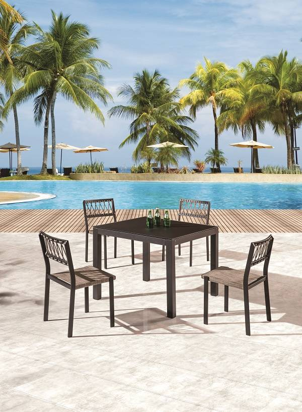 Hyacinth Modern Outdoor Dining Set for 4 with Chairs ...
