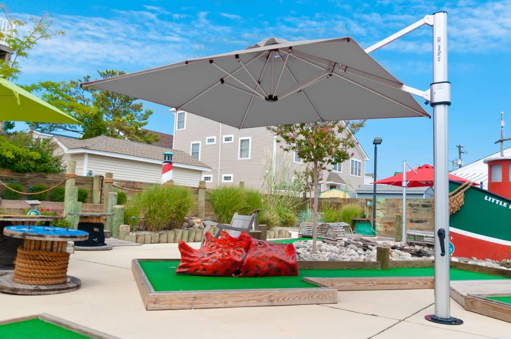 Eclipse Cantilever Square Umbrella Commercial Patio Umbrellas - Commercial table umbrellas