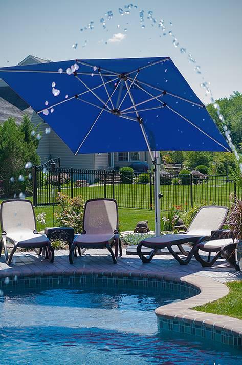 Eclipse Cantilever Square Umbrella   Commercial Patio Umbrellas ...
