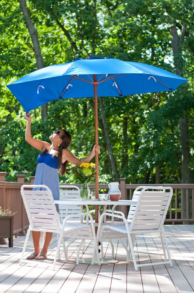 Babmar   Catalina Fiberglass Octogan Patio Umbrella