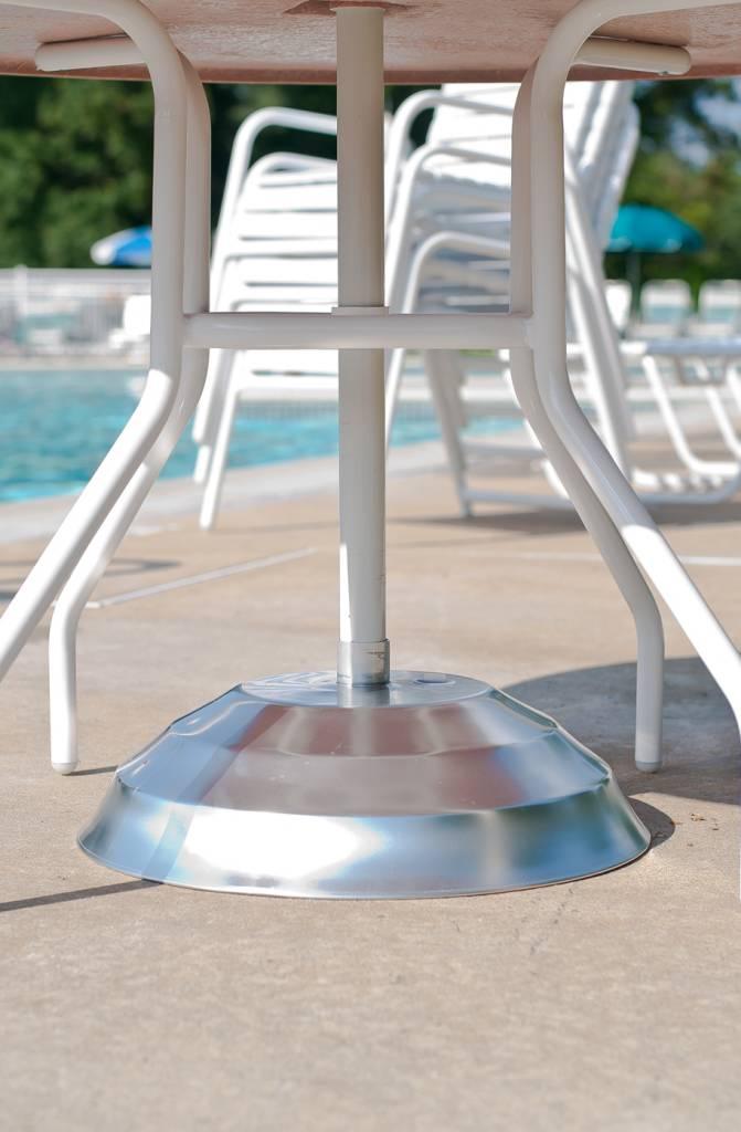 Patio Umbrella Accessories Replacement: Aluminum Shell Umbrella Base