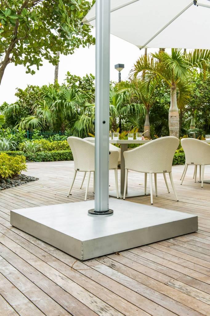 """Patio Umbrella Accessories Replacement: 44"""" Square Galvanized Steel Umbrella Base"""
