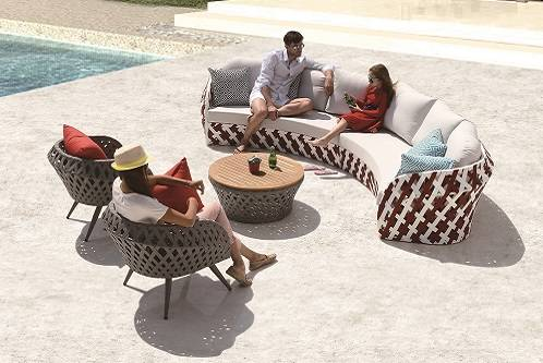 Verona Curved Sofa Set With Chairs