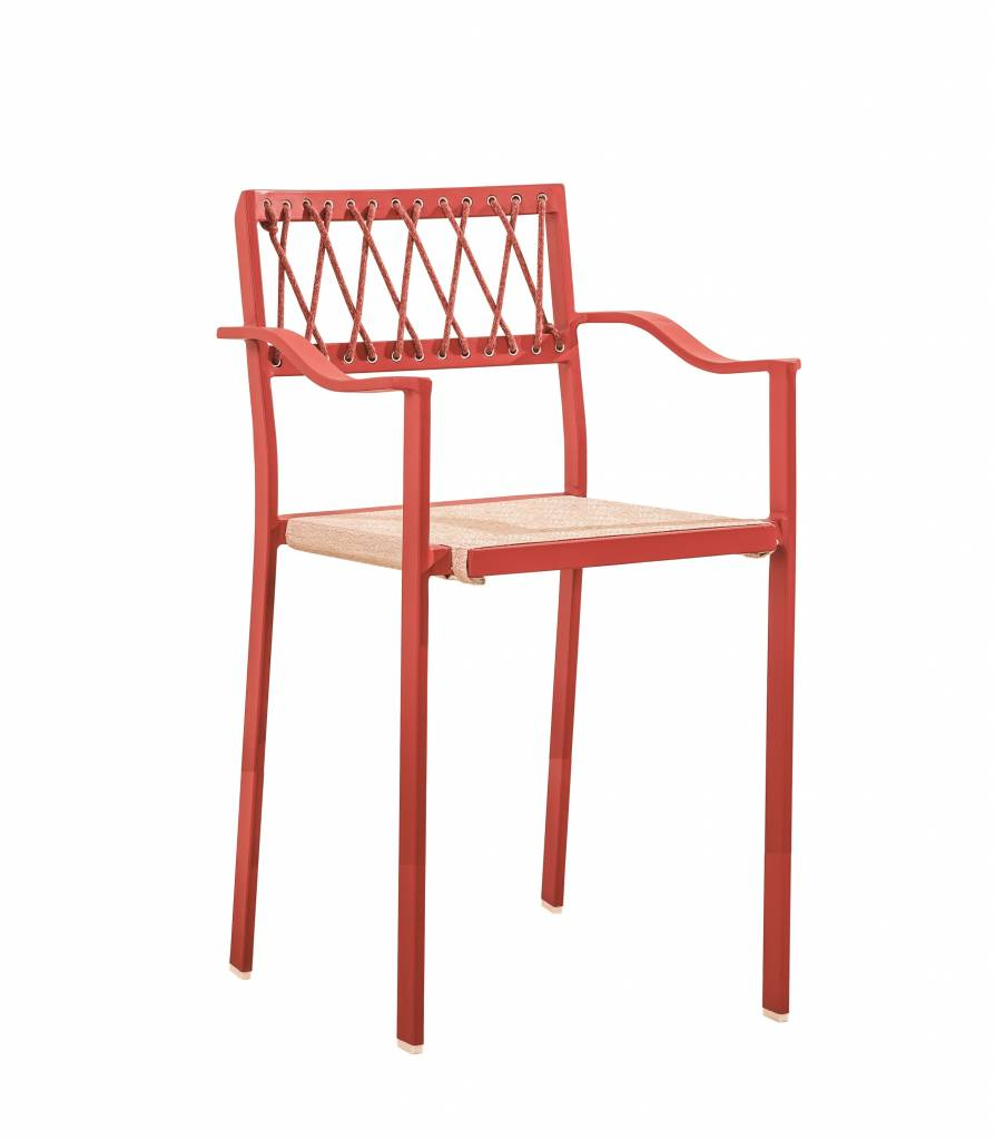 Hyacinth Modern Outdoor Bar Stool With Arms
