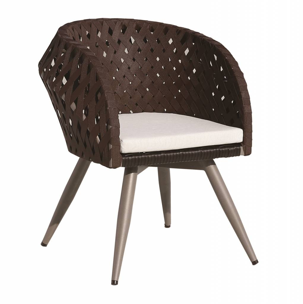 Verona Modern Outdoor Dining Chair With Arms