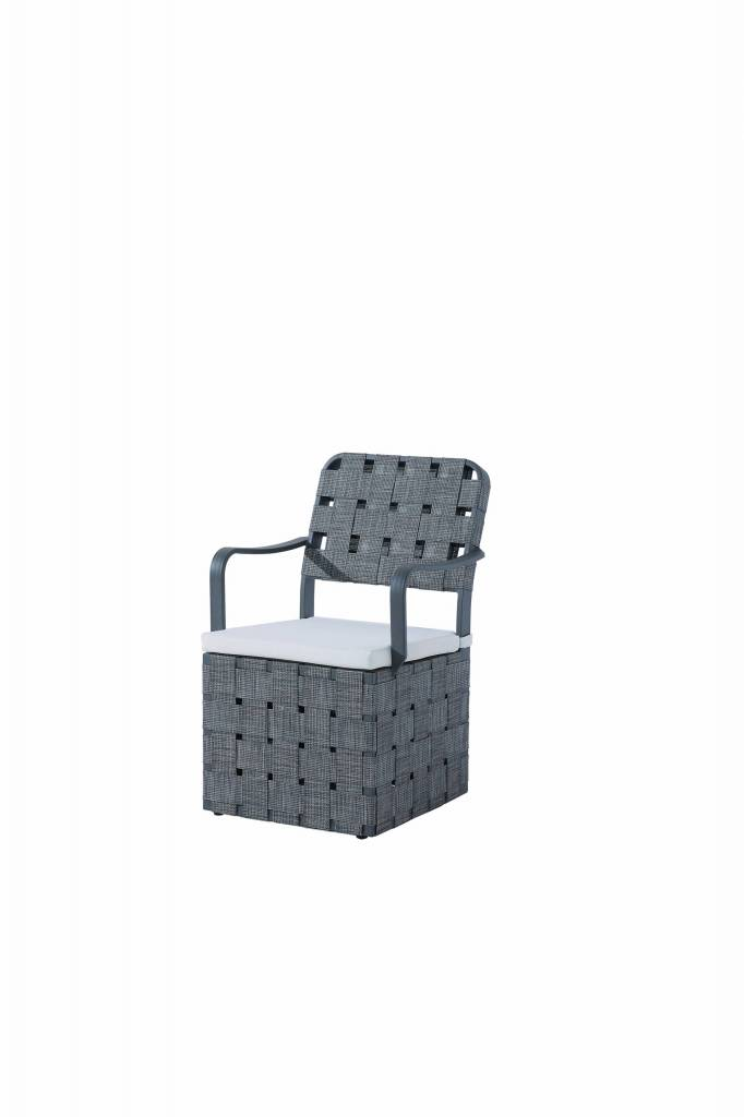 Edge Modern Outdoor Dining Chair With Woven Sides