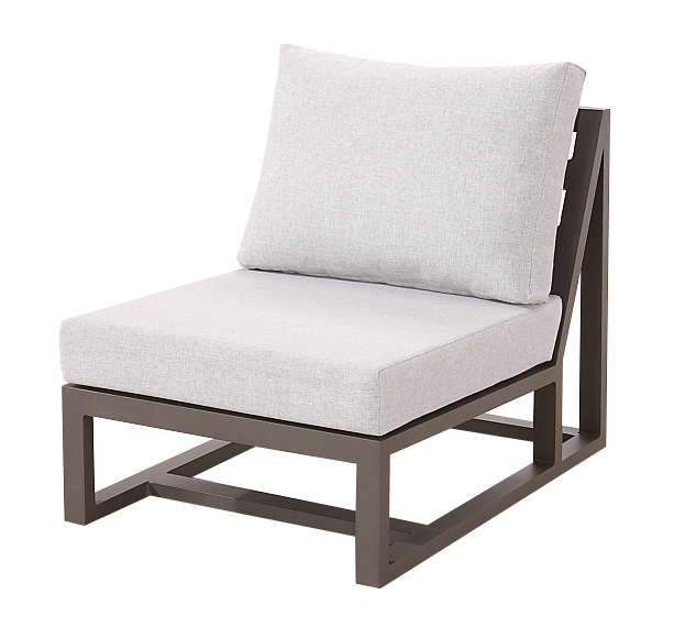 Tribeca Modern Outdoor Middle Armless Sofa