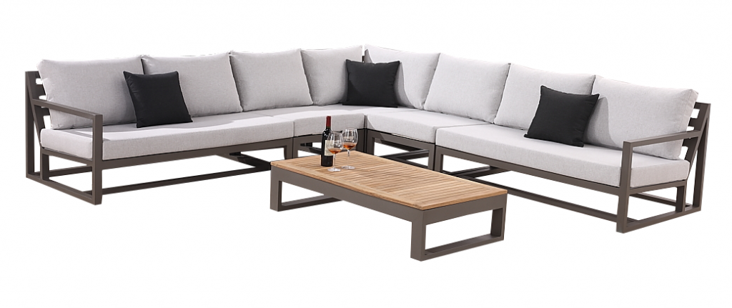 Tribeca Modern Outdoor 7 Seater L Shaped Modular Sectional