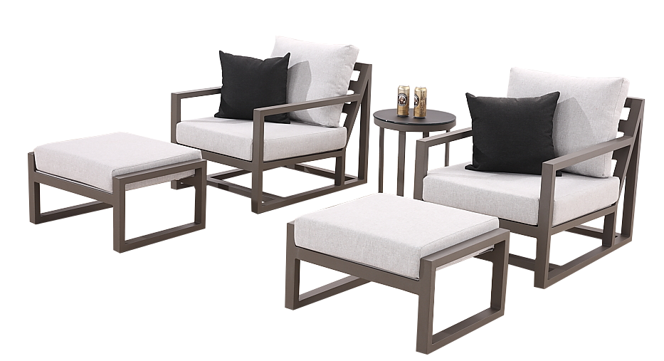 Fabulous Tribeca Modern Outdoor Club Chair Set For 2 With Ottomans Pdpeps Interior Chair Design Pdpepsorg