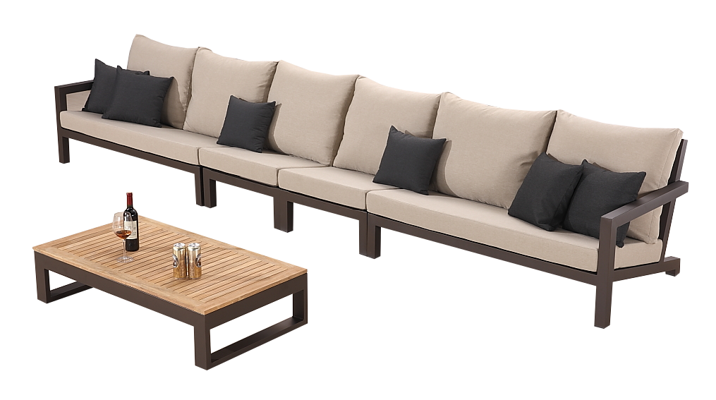 Soho Straight Sectional Sofa Set For 6