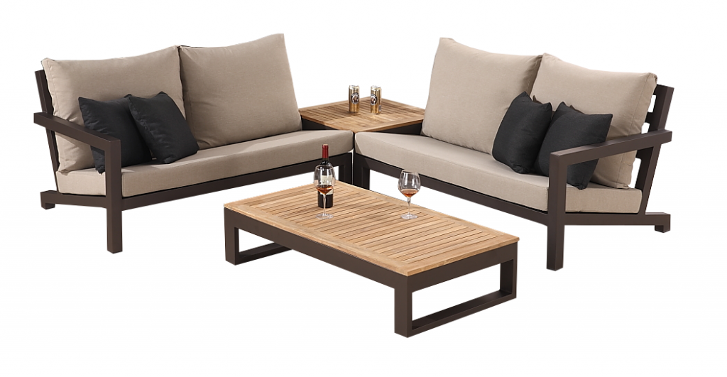 Soho modern outdoor sectional sofa set for 4 soho sectional sofa set for 4 with corner table watchthetrailerfo