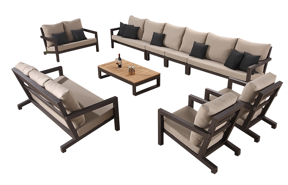 Soho Modern Outdoor Extra Large Sectional Sofa Set for 13