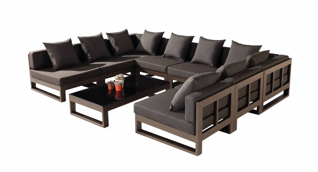 Amber Modern Outdoor Quot U Quot Shape Large Sectional Sofa For 8