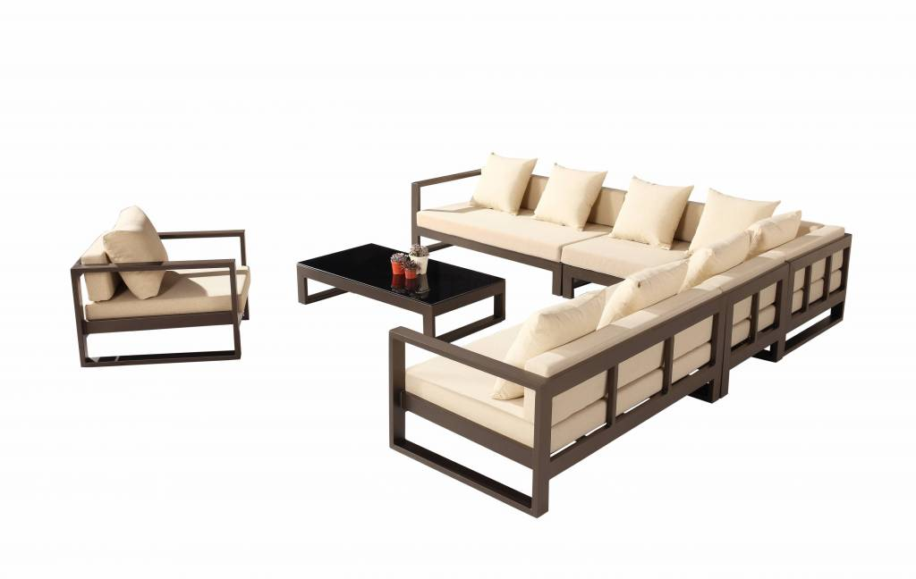 I 23590612 Amber Sectional Sofa Set For 8 With Club Chair on Replacement Legs For Ottomans