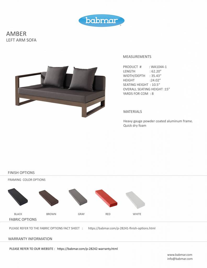 Amber Modern Outdoor Sofa Lounge Set For 5 With Chair And