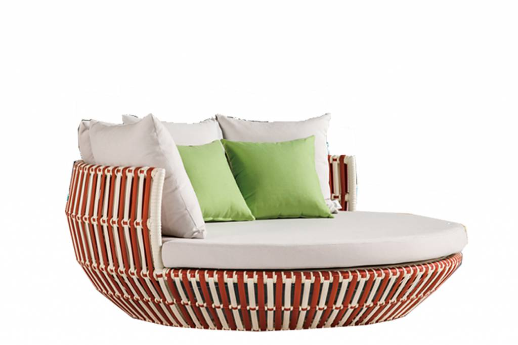 Terrific Apricot Low Back Daybed Theyellowbook Wood Chair Design Ideas Theyellowbookinfo