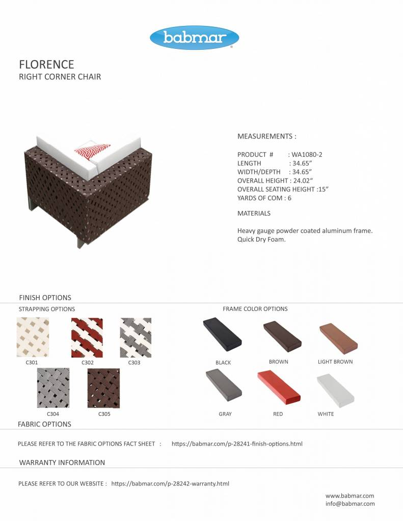 Florence Modern Outdoor Modular Sectional Sofa Set For 8