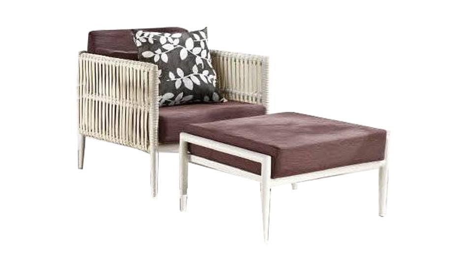 Admirable Kitaibela Modern Outdoor Club Chair With Ottoman Cjindustries Chair Design For Home Cjindustriesco