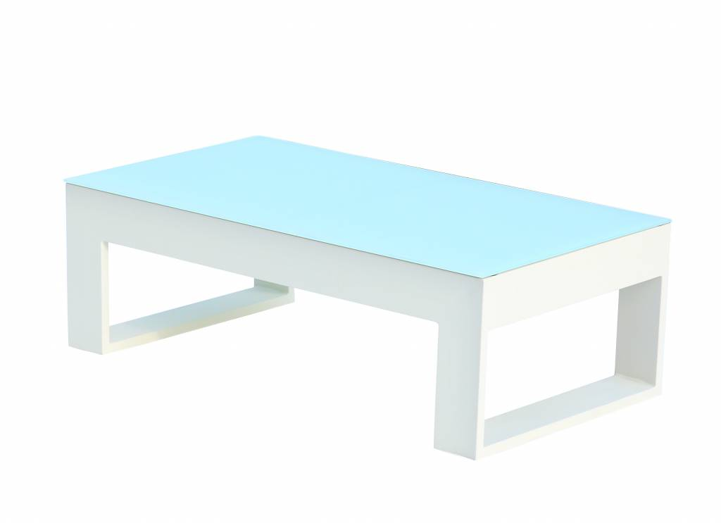 Lusso tall rectangular coffee table - How tall is a coffee table ...
