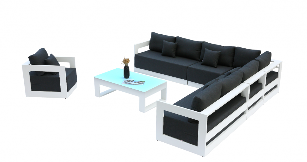 Awesome Lusso Xl Sectional Sofa Set With Club Chair Commercial Gmtry Best Dining Table And Chair Ideas Images Gmtryco