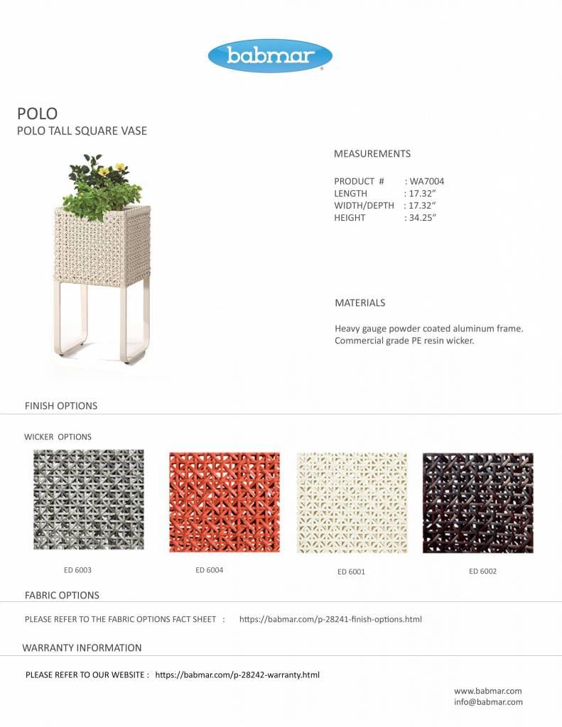 Polo Modern Outdoor Tall Square Flower Vase Babmar Com