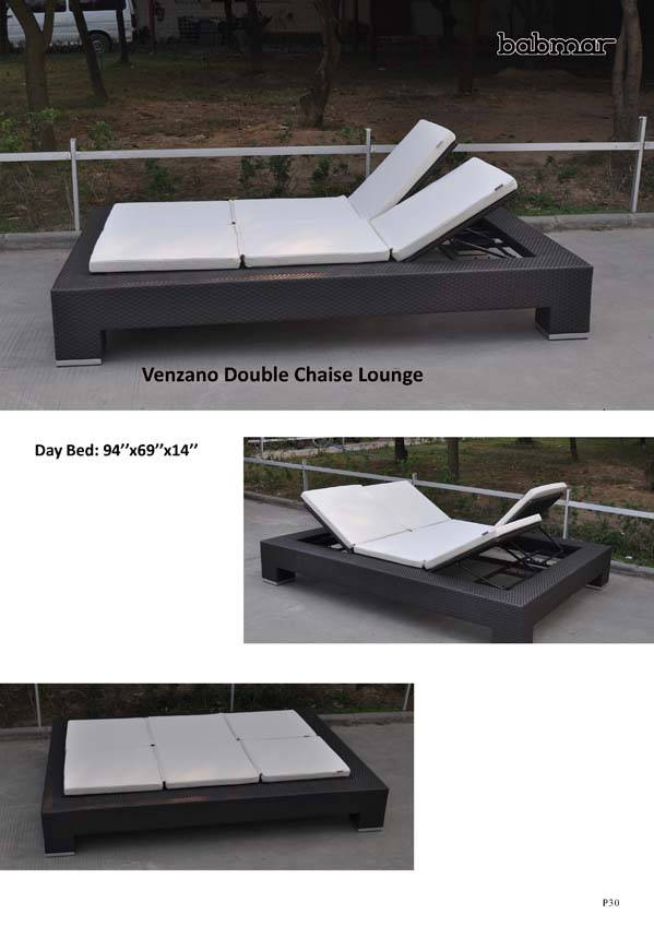 Venzano Double Chaise Lounger All Weather Wicker