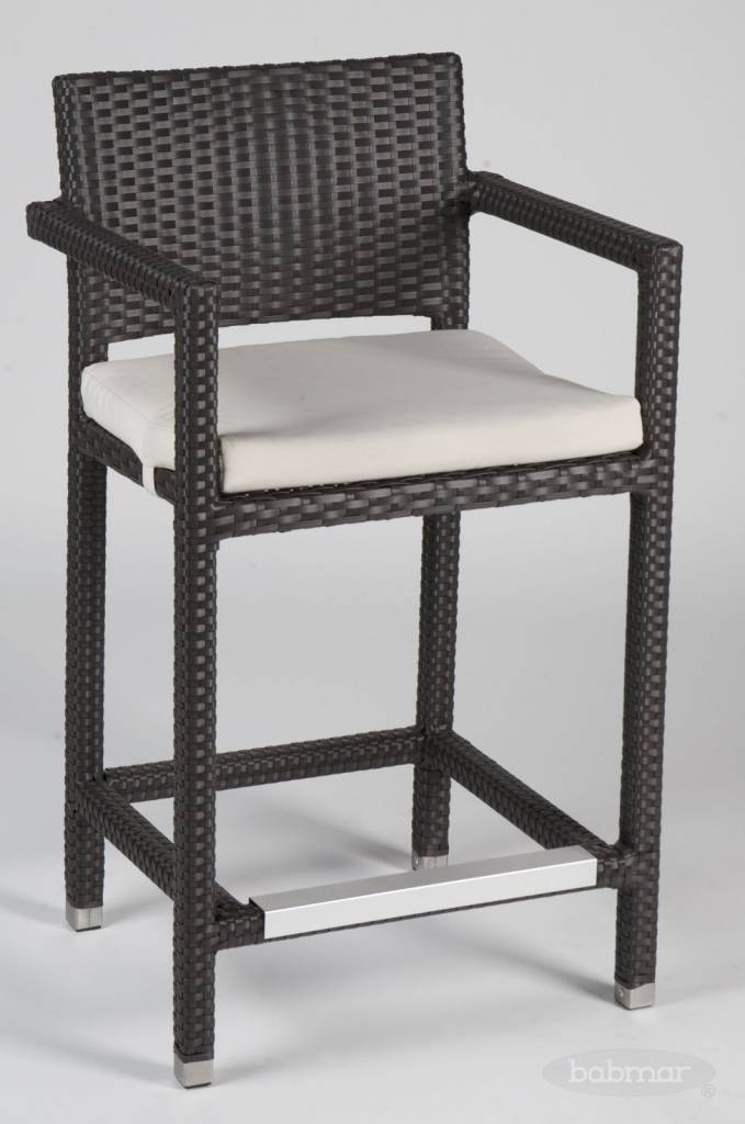 Vertigo Counter Height Outdoor Bar Stool With Arms