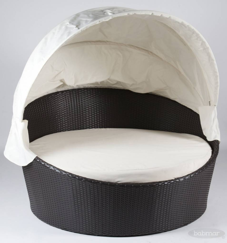 Modern outdoor daybed -  Iridium Modern Round Daybed With Canopy