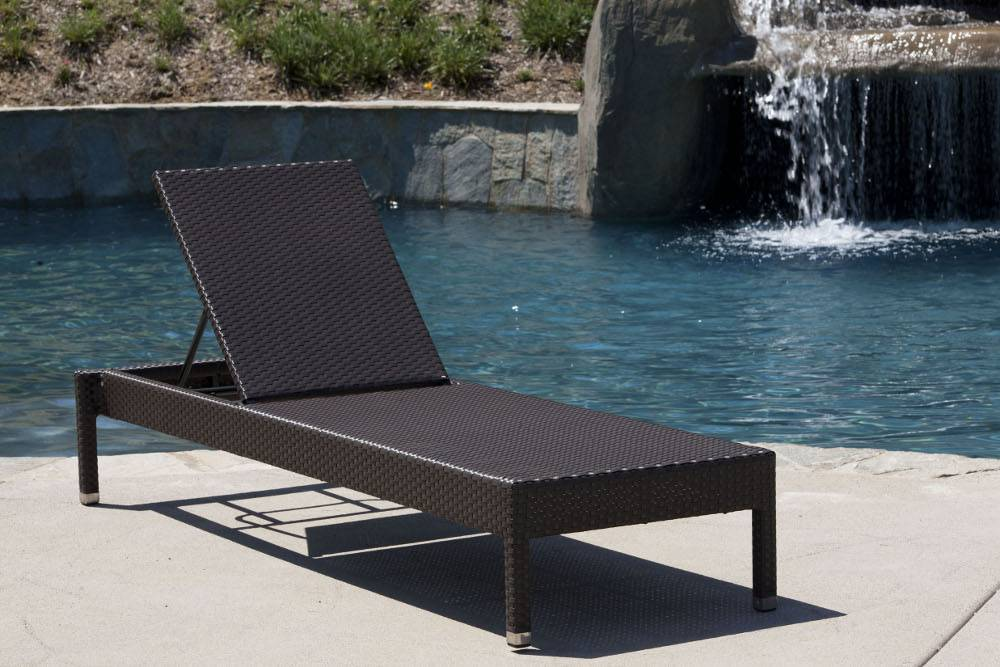 Stackable All Weather Wicker Chaise Lounge