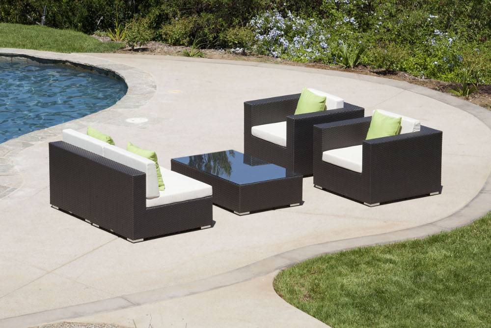 Swing 46 Modern Outdoor All Weather Wicker Sectional Sofa
