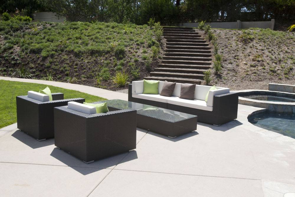 Swing 46 modern outdoor all weather wicker sectional sofa for Terrazza design