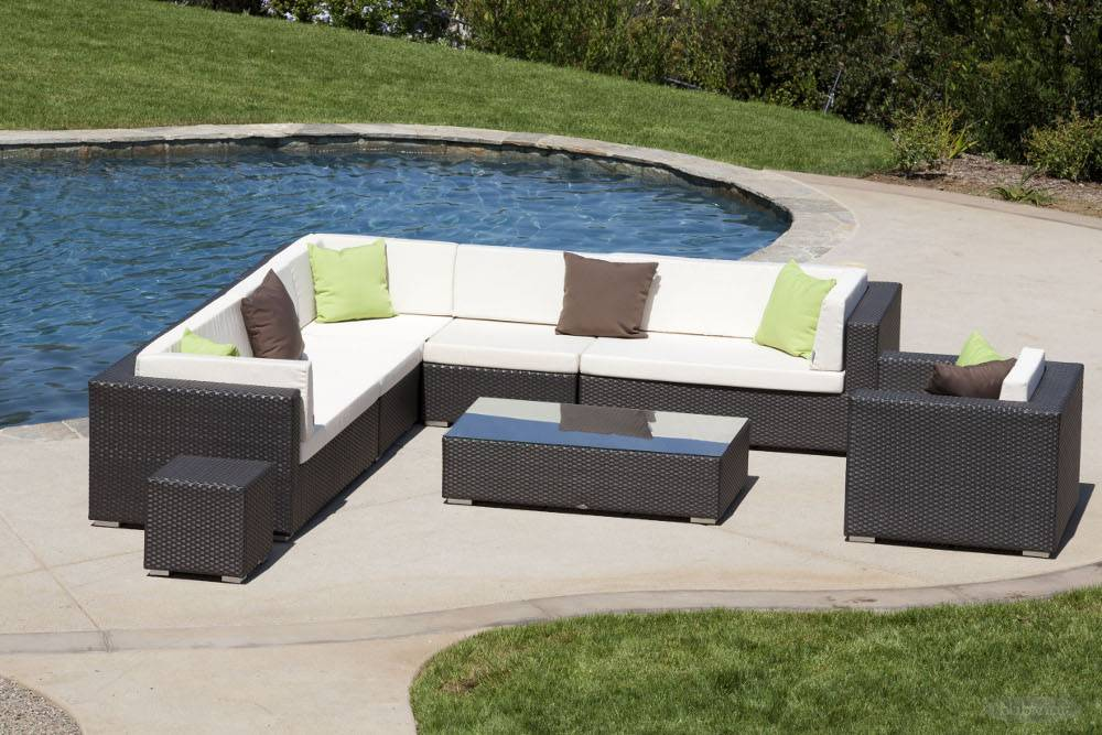 Swing 46 Modern Outdoor All Weather Wicker 8 Piece