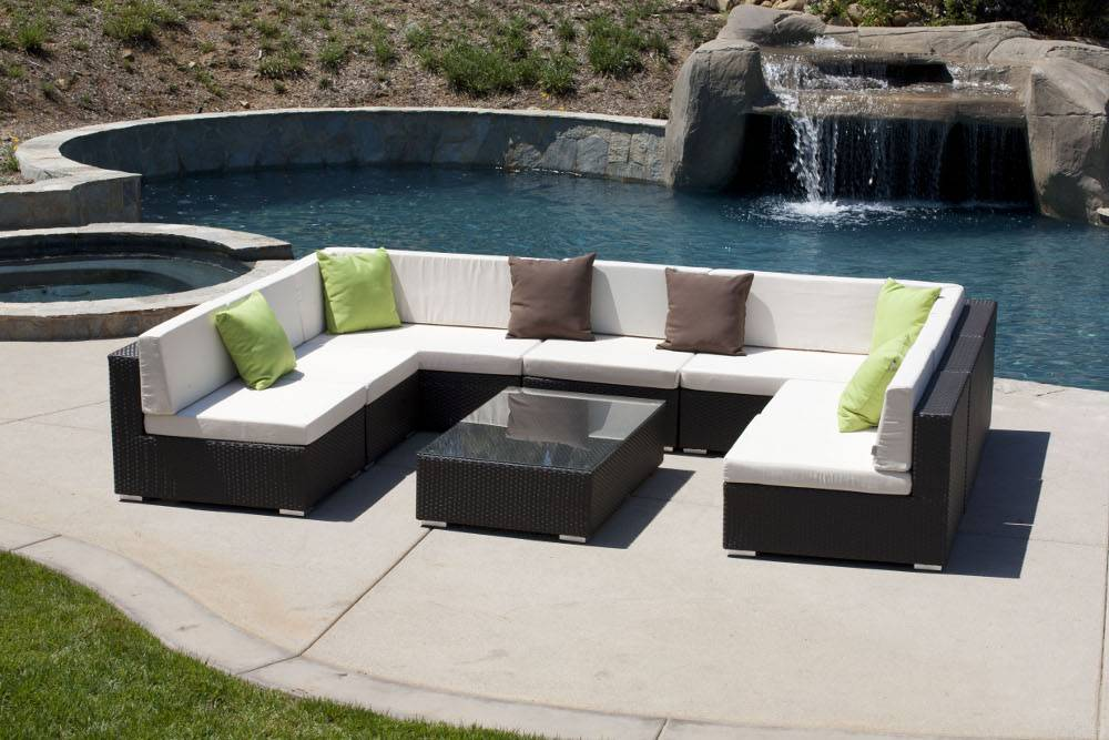 Outdoor Patio Couch Set Of Swing 46 Sofa U Shaped Set