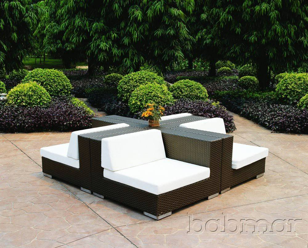 Swing 46 corner outdoor modular furniture seating set for Contemporary patio furniture