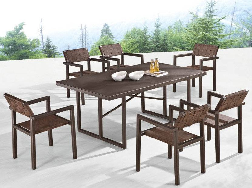 Asthina dining set for six outdoor dininig set lawn for Outdoor furniture kenya