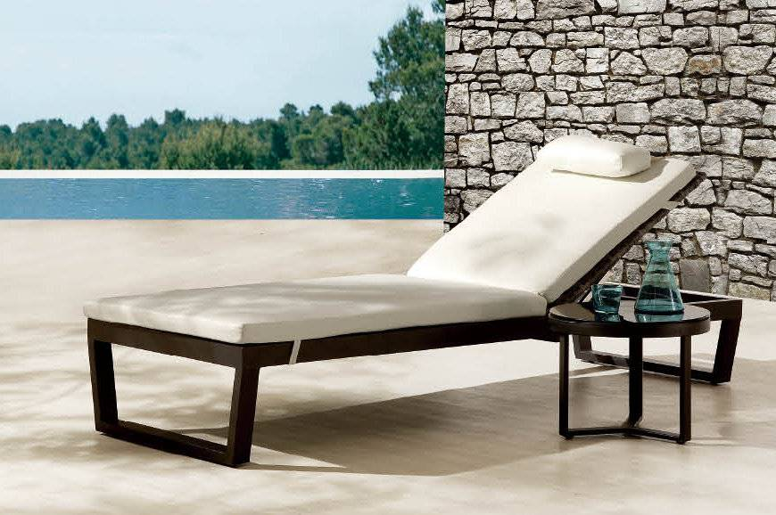 Cali Chaise Lounge Outdoor Wicker Modern Aluminum And