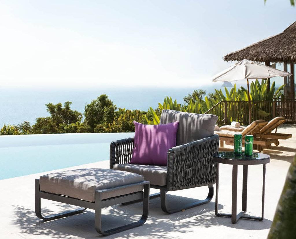 Haiti Modern Outdoor Chair With Ottoman