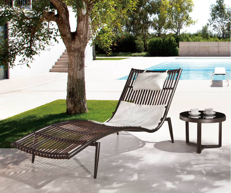 Kitaibela Modern Outdoor Chaise Lounge