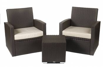 Palomino Club Chair Set for 2 with square side table