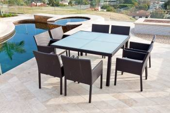 Bella Dining Set for Eight With Square Table
