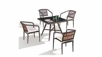 Kitaibela Dining Set for Four with Square Table