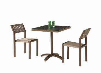 Amber Armless Dining Set for 2