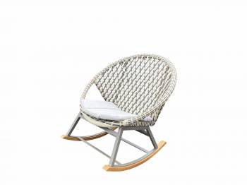 Evian Round Rocking Club Chair